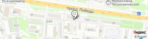 Дионис на карте Петропавловска-Камчатского