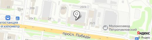 Нейл клуб на карте Петропавловска-Камчатского