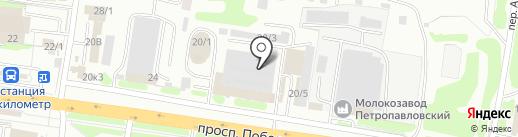 РЕСУРС на карте Петропавловска-Камчатского