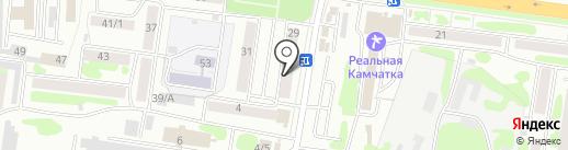 Парни-Пласт на карте Петропавловска-Камчатского