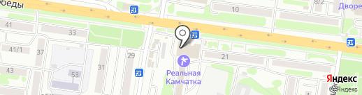 Мильковское на карте Петропавловска-Камчатского