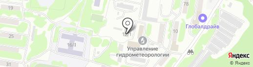 Автоматическая служба передачи данных на карте Петропавловска-Камчатского