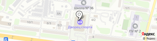 СДЮСШОР по плаванию на карте Петропавловска-Камчатского