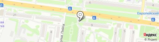 Торговый павильон сортового пива на карте Петропавловска-Камчатского