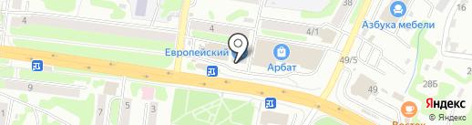 Европейский на карте Петропавловска-Камчатского