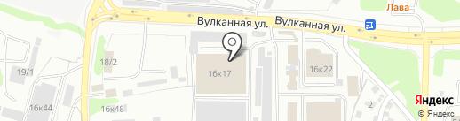 Барьер на карте Петропавловска-Камчатского