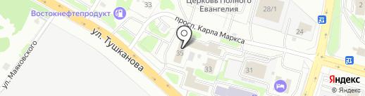 Беринг-Фиш на карте Петропавловска-Камчатского