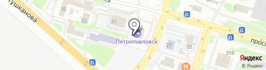 Русская горница на карте Петропавловска-Камчатского