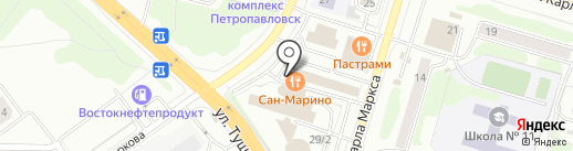 Банкомат, Росбанк, ПАО на карте Петропавловска-Камчатского