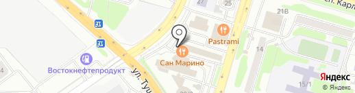 Леденец на карте Петропавловска-Камчатского