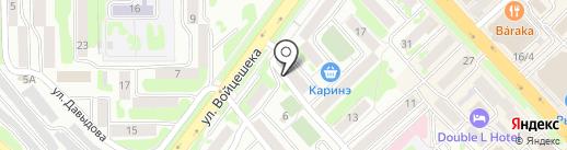 Центр на карте Петропавловска-Камчатского