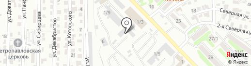 Автотриплекс на карте Петропавловска-Камчатского