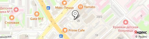 Чародейка на карте Петропавловска-Камчатского