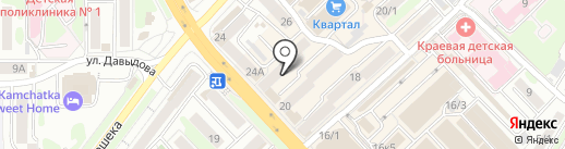 Сеньор помидор на карте Петропавловска-Камчатского