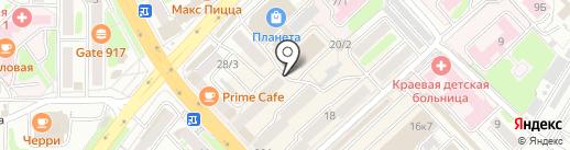 Магазин товаров высоких технологий на карте Петропавловска-Камчатского