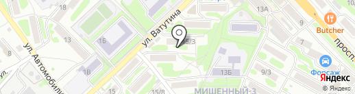 Елена на карте Петропавловска-Камчатского