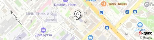 Юность России на карте Петропавловска-Камчатского