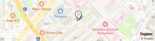 Компас на карте Петропавловска-Камчатского