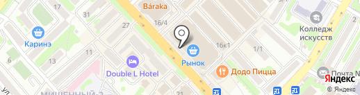 Сварог на карте Петропавловска-Камчатского