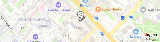 Болеро на карте Петропавловска-Камчатского