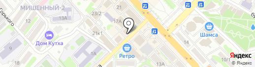 ЮНА на карте Петропавловска-Камчатского