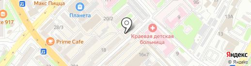Магазин мягкой мебели на карте Петропавловска-Камчатского