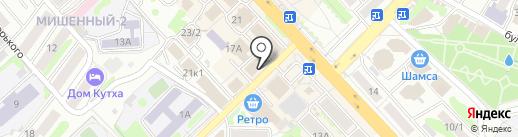 Магазин штор на карте Петропавловска-Камчатского