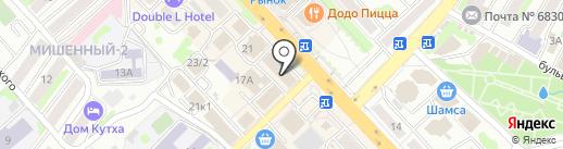 333 АРТ на карте Петропавловска-Камчатского