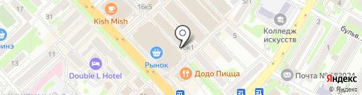Алёшка на карте Петропавловска-Камчатского