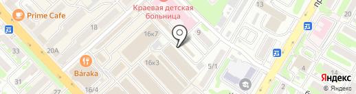 Компьютерная томография на карте Петропавловска-Камчатского