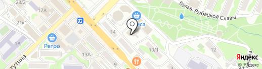 Орион на карте Петропавловска-Камчатского