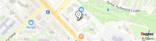 Студия 23 на карте Петропавловска-Камчатского