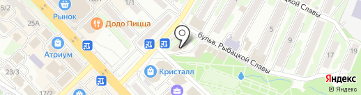 Трикотажная лавка на карте Петропавловска-Камчатского