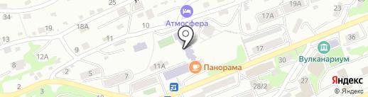 Молодежное на карте Петропавловска-Камчатского