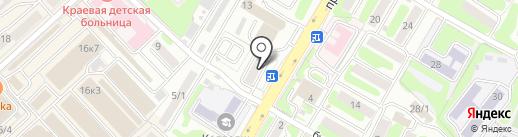 Общежитие медицинского колледжа на карте Петропавловска-Камчатского