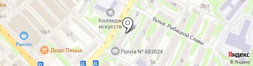 Наш дом на карте Петропавловска-Камчатского