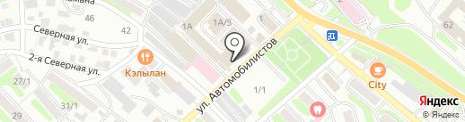 Кокетка на карте Петропавловска-Камчатского