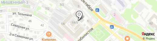 Весняночка на карте Петропавловска-Камчатского