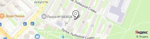 Радужный на карте Петропавловска-Камчатского