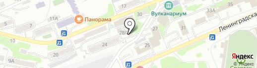 КамчатГипрорыбпром, ГУП на карте Петропавловска-Камчатского