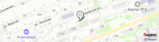 Вулкан на карте Петропавловска-Камчатского