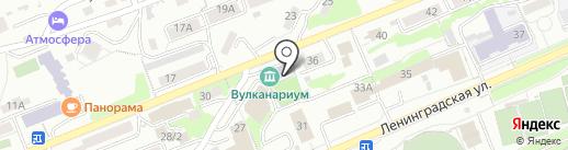 Вулканариум на карте Петропавловска-Камчатского