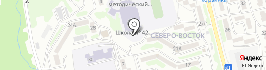 Средняя общеобразовательная школа №42 на карте Петропавловска-Камчатского