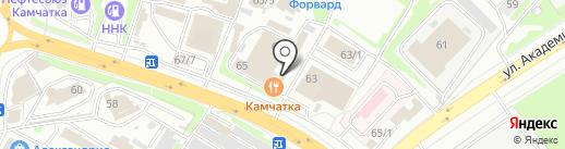 Автолайн на карте Петропавловска-Камчатского
