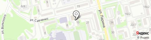 Кристалл на карте Петропавловска-Камчатского