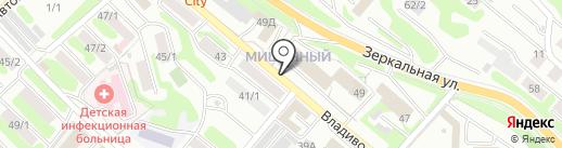 Дом ткани на карте Петропавловска-Камчатского