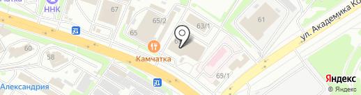 Автомир на карте Петропавловска-Камчатского