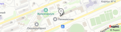 поZитив на карте Петропавловска-Камчатского