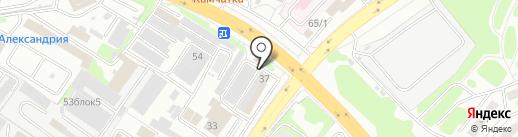 Магазин автотоваров на карте Петропавловска-Камчатского