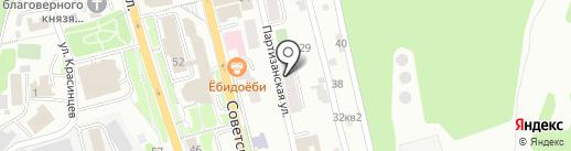 Голвер на карте Петропавловска-Камчатского
